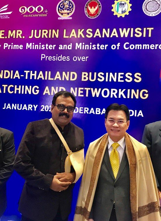 Skålleague Valmiki Hari Kishan appraised His Excellency Jurin Laksanawisit Deputy Prime Minister of Thailand