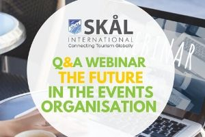 Success of the second Skål International webinar 'The future in the events organisation'